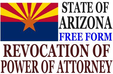 Revoke Power of Attorney Arizona