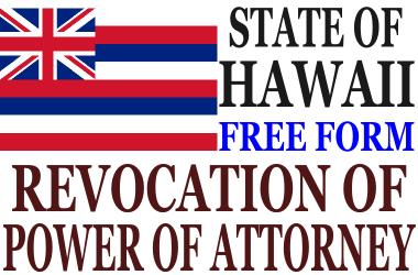 Revoke Power of Attorney Hawaii