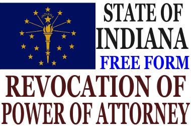 Revoke Power of Attorney Indiana