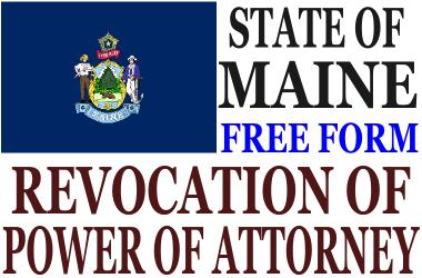 Revoke Power of Attorney Maine