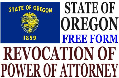 Revoke Power of Attorney Oregon