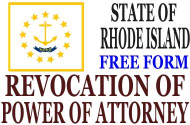 Revoke Power of Attorney Rhode Island