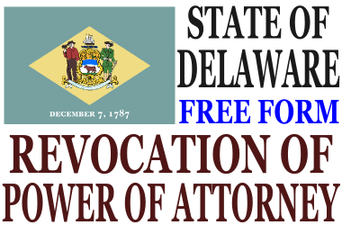 Revoke Power of Attorney Delaware