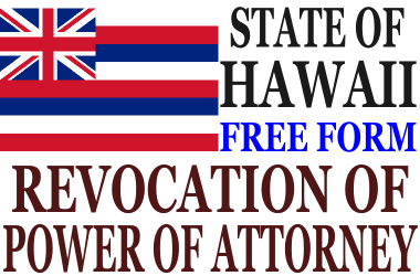 Revoke Power of Attorney Hawaii