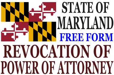 Revoke Power of Attorney Maryland