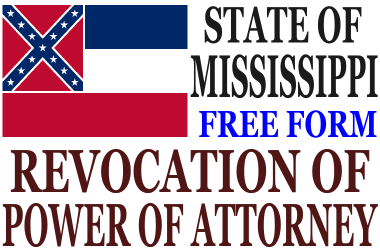 Revoke Power of Attorney Mississippi
