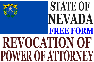Revoke Power of Attorney Nevada