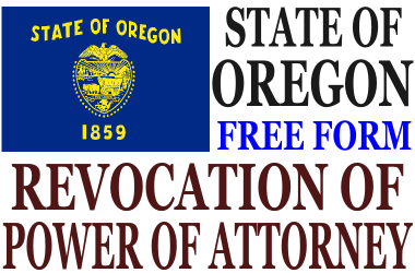 Revoke Power of Attorney Oregon