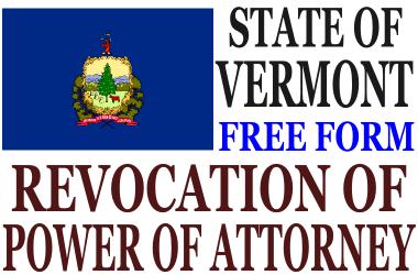 Revoke Power of Attorney Vermont